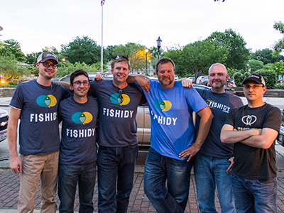 A photo of the Fishidy team