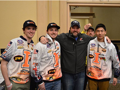 Fishidy's president, Brian with the Illinois College fishing team