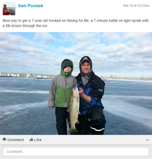 Track your experience on the ice using Fishidy's fishing app