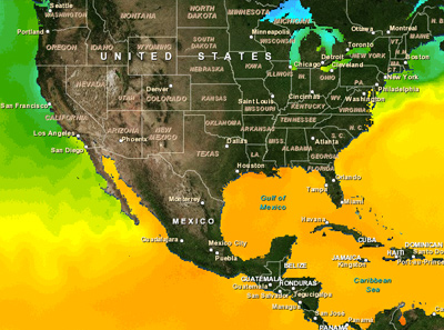 Real-time Sea Surface Temperatures View