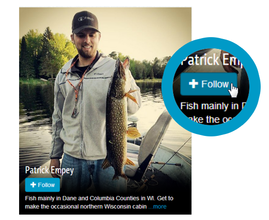 Follow anglers on your favorite waterways for real-time fishing reports